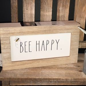 Rae Dunn BEE HAPPY Sign